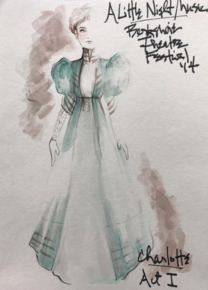 A LITTLE NIGHT MUSIC - Kate Baldwin as Charlotte, Act 1 Sketch by David Murin