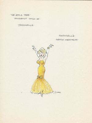 THE APPLE TREE- Gold Dress for Kristin Chenoweth as 'Passionella' by Jess Goldstein