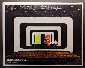 "BE MORE CHILL - Set Rendering ""Food Court"" by Beowulf Boritt"