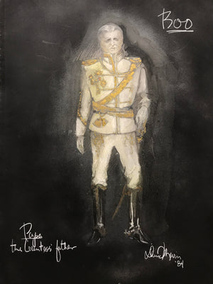 Original Costume Sketch for BOO, AN EVENING OF GHOST STORIES 'Papa'