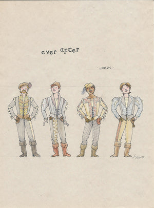 EVER AFTER - 'Lords Ensemble' No 3 Original Costume Sketch by Jess Goldstein