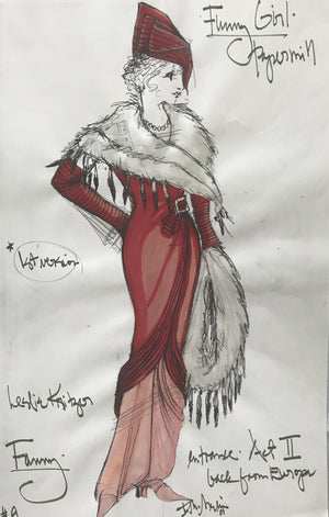 Leslie Kritzer in FUNNY GIRL, Costume Sketch by David Murin, 'Back from Europe, 1st Version'