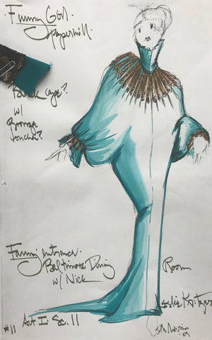 Leslie Kritzer in FUNNY GIRL, Costume Sketch by David Murin, 'Baltimore Dining Room'