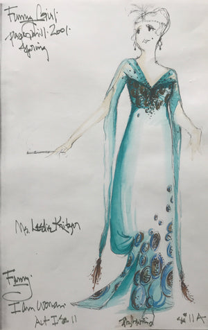 Leslie Kritzer in FUNNY GIRL, Costume Sketch by David Murin, 'I am Woman Dress'