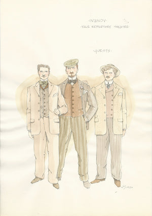 IVANOV - Male Guests Costume Sketch by Jess Goldstein