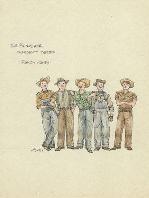 THE RAINMAKER 'Ranch Hands' Costume design by Jess Goldstein