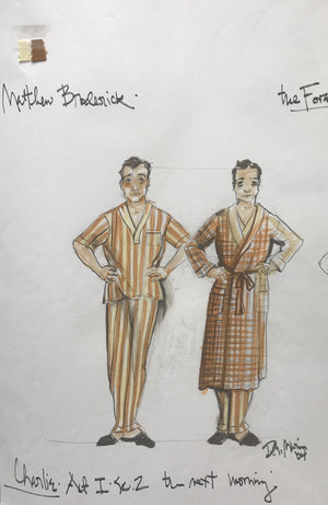 Matthew Broderick in THE FOREIGNER Sc 2 'Charlie in Robe' design by David Murin