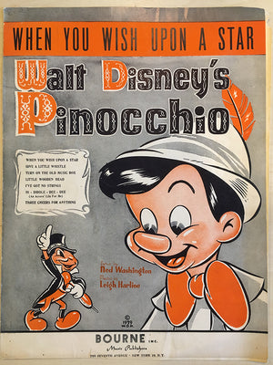 """When You Wish Upon a Start"" from Disney's Pinocchio Sheet Music"