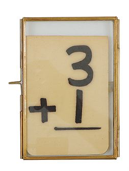 Glass and Brass Picture Frame