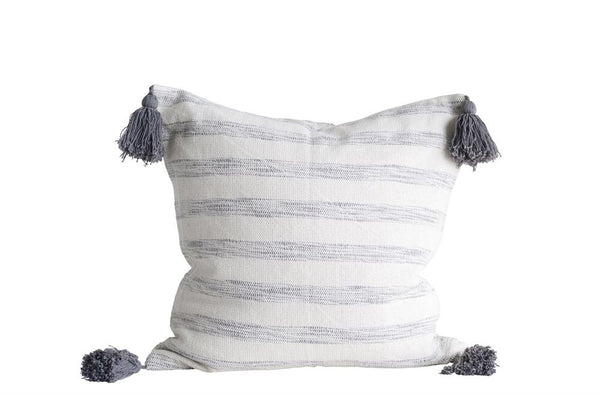 Gray Striped Pillow