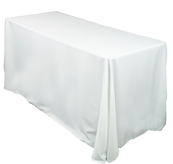 "White 90"" x 132""  Linen for 6' Table"