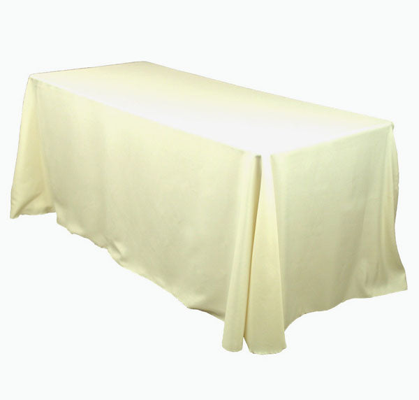 "Ivory  Linen 90""x156"" for 8' Table"