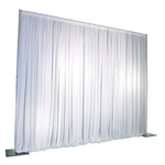 Basic White Backdrop Includes 3 White Sheer Curtains