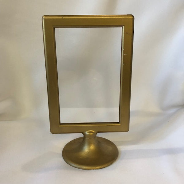 "8"" gold picture frame"