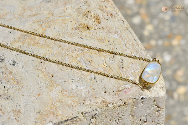Magical Moonstone Necklace 14k