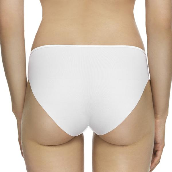 Virginia by Corin Lingerie | White Laser cut Classic Brief @lalingerie.ca