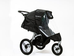Bumbleride Rain Cover on Speed Jogging Stroller