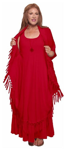 Moroccan Magic Dress with Fringes