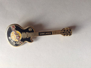 CHICAGO Black, Gold Appearance , Grid - Large Open 3 Lines HARD ROCK CAFE PIN B7-246B