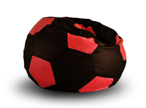 Chocolate XXL Football Bean Bag Cover Without Fillers (Bean Bag)