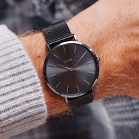 Special Edition La Bohème Mesh/Dark Grey Gift Box CLG015 - watch on wrist