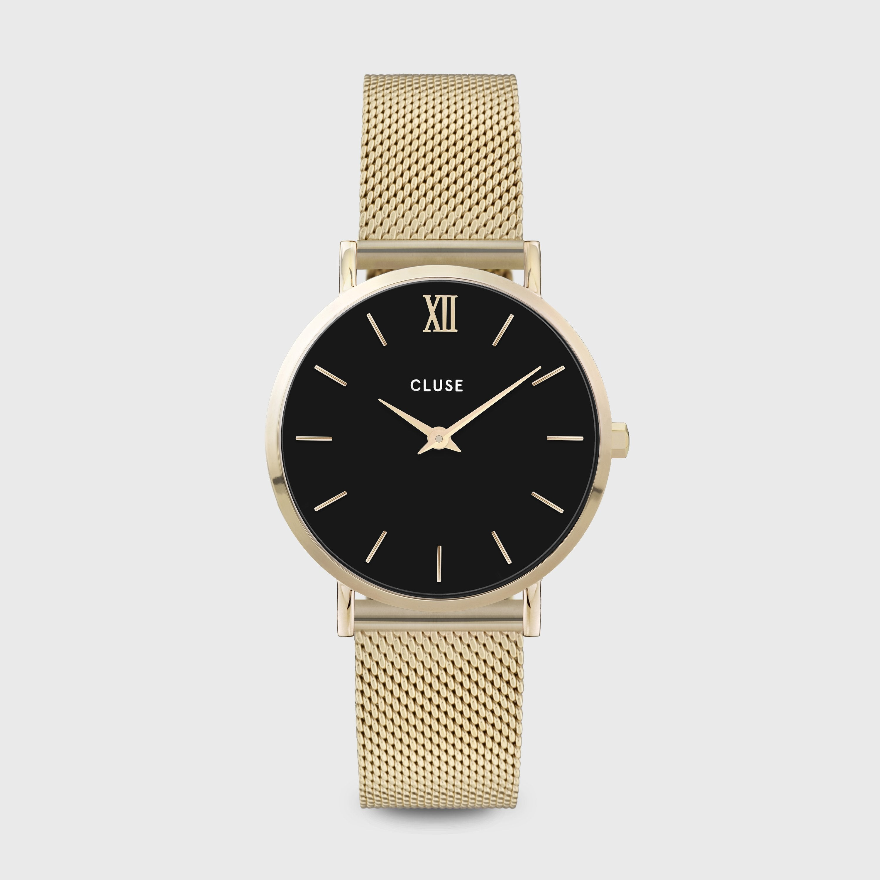 CLUSE Minuit Mesh Gold Black/Gold CW0101203017 - Watch