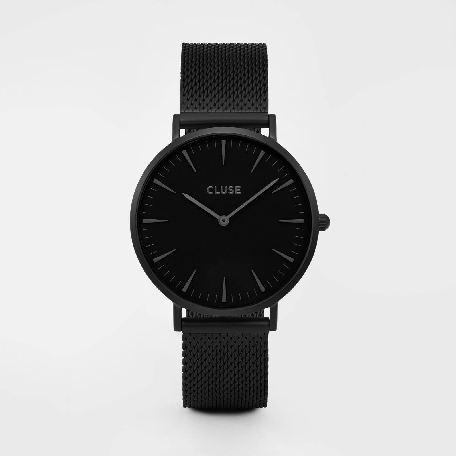 CLUSE La Bohème Mesh Full Black CL18111 - watch