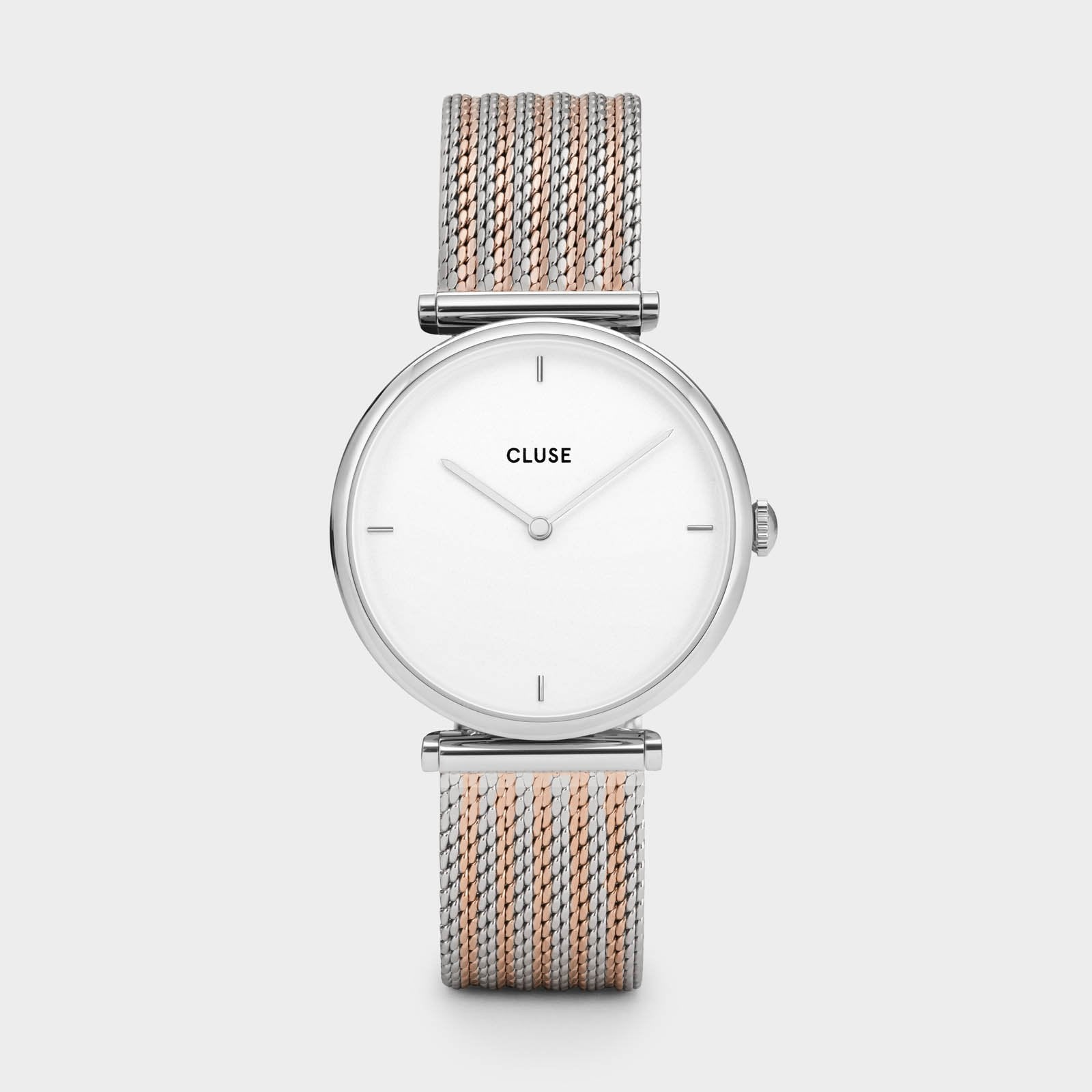 CLUSE Triomphe Silver Bicolour Mesh CL61001 - watch