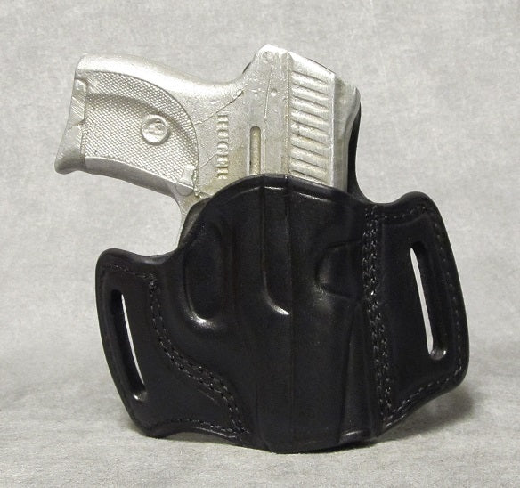 Ruger LC9 Leather Pancake Holster - Black