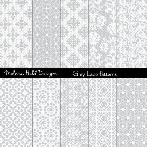 Grey Lace Patterns Digital Paper & Backgrounds Melissa Held Designs    Mygrafico
