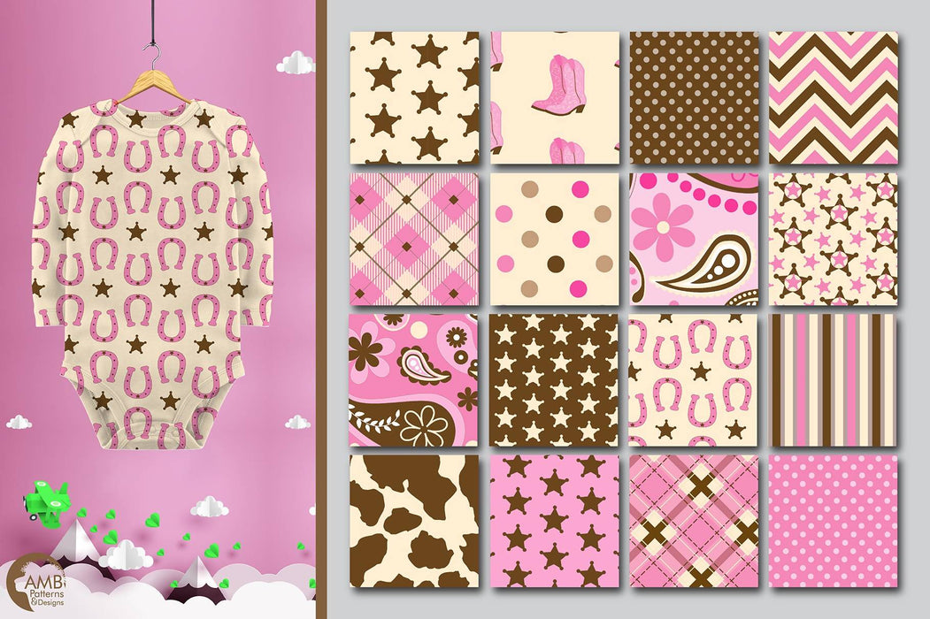Cowgirl Digital Papers, Cowboy Digital Paper, Cowgirls Pink Papers, Cowhide papers, Bandana papers, commercial use, AMB-1974 Digital Paper & Backgrounds AMBillustrations    Mygrafico