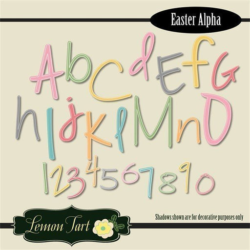 Easter Spring Colors Alphabets Numbers Clipart Lemon Tart    Mygrafico