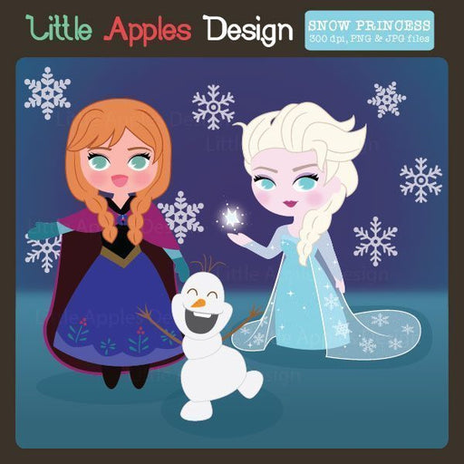 Snow Princess Clipart Clipart Little Apples Design    Mygrafico