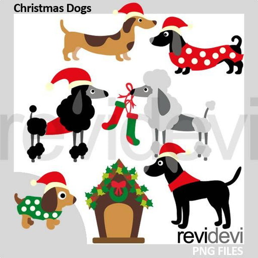 Christmas Puppy Dogs Clipart
