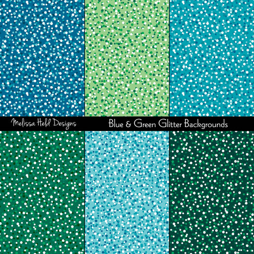 Blue & Green Glitter Backgrounds Digital Paper & Backgrounds Melissa Held Designs    Mygrafico