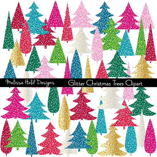Glitter Christmas Trees Clipart Cliparts Melissa Held Designs    Mygrafico
