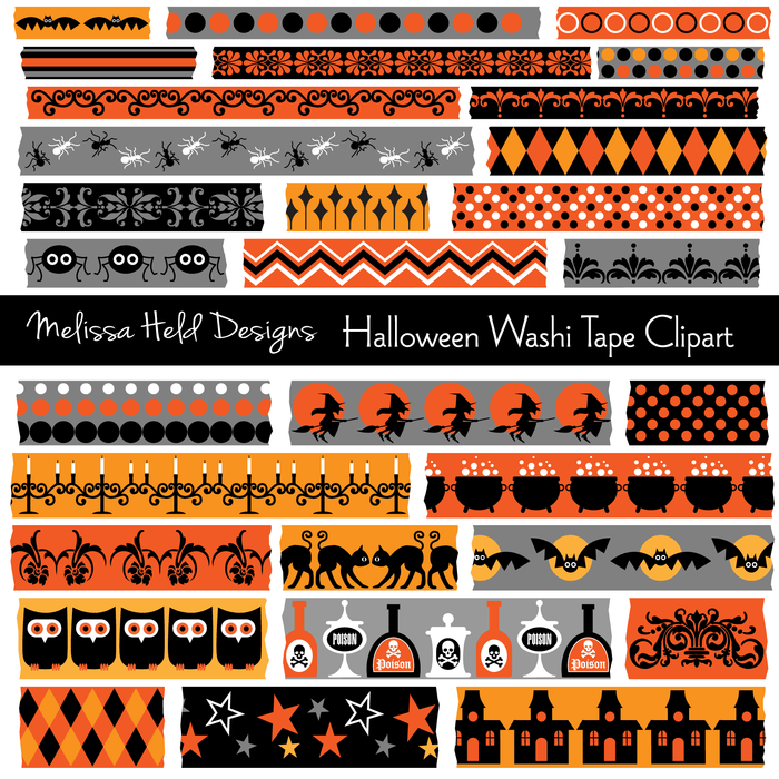 Halloween Washi Tape Clipart Clipart Melissa Held Designs    Mygrafico