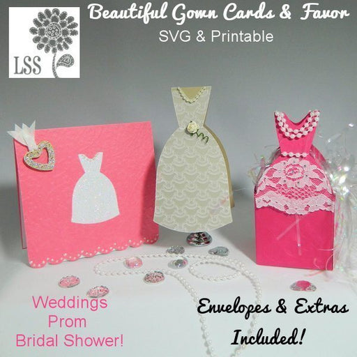 Beautiful Gown SVG SVG Cutting Templates Lindsay's Stamp Stuff    Mygrafico
