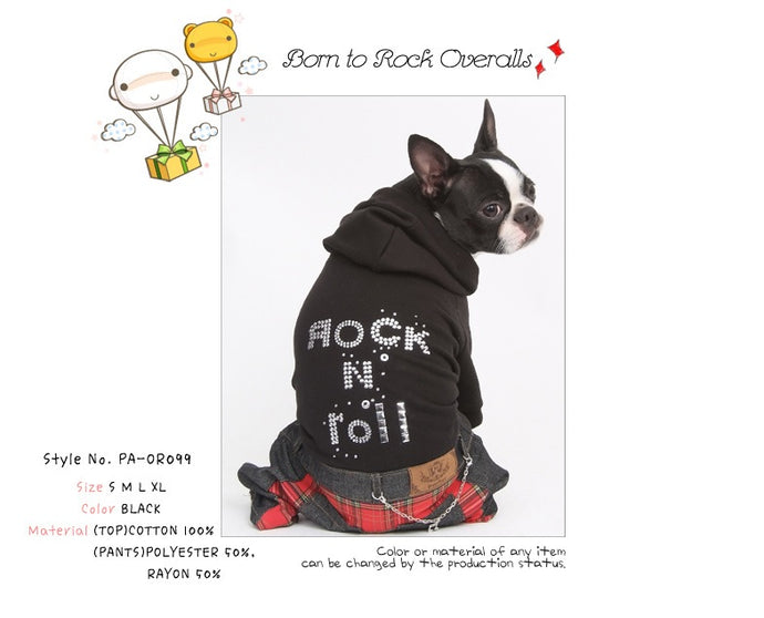 Puppy Angel Born To Rock Overall PA-OR099