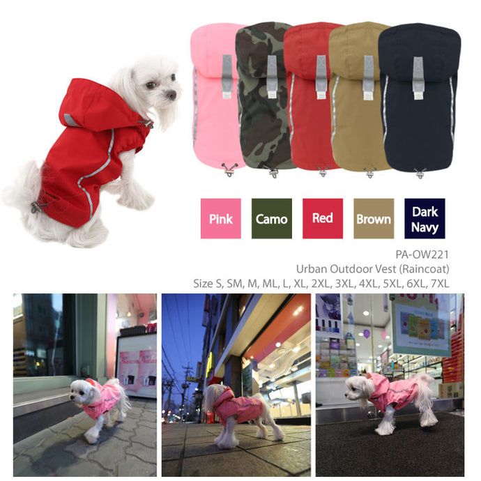 Puppy Angel BIONNE2 Urban Outdoor Vest Raincoat