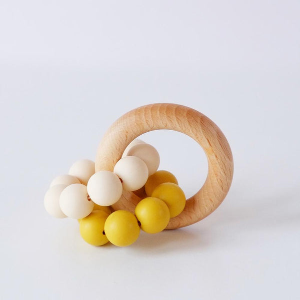 Mustard ombre teething ring