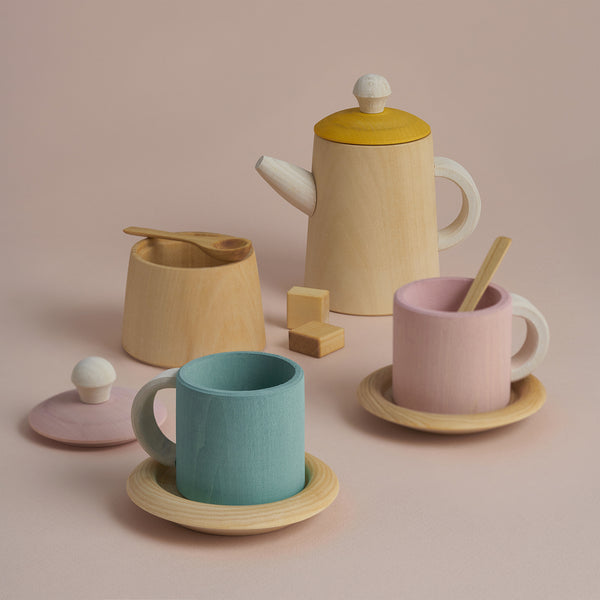 Wooden Tea Set - Pastel
