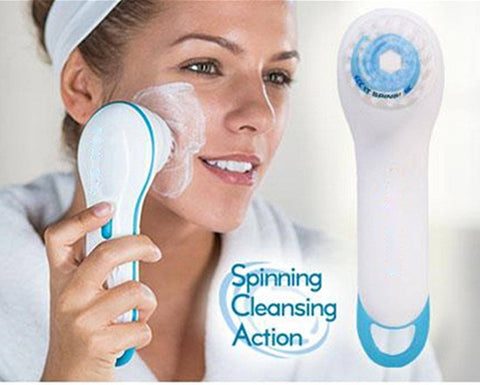 Massager - 2 In 1 Waterproof Wireless Spin Spa Brush ( Facial Massage And Cleaning)