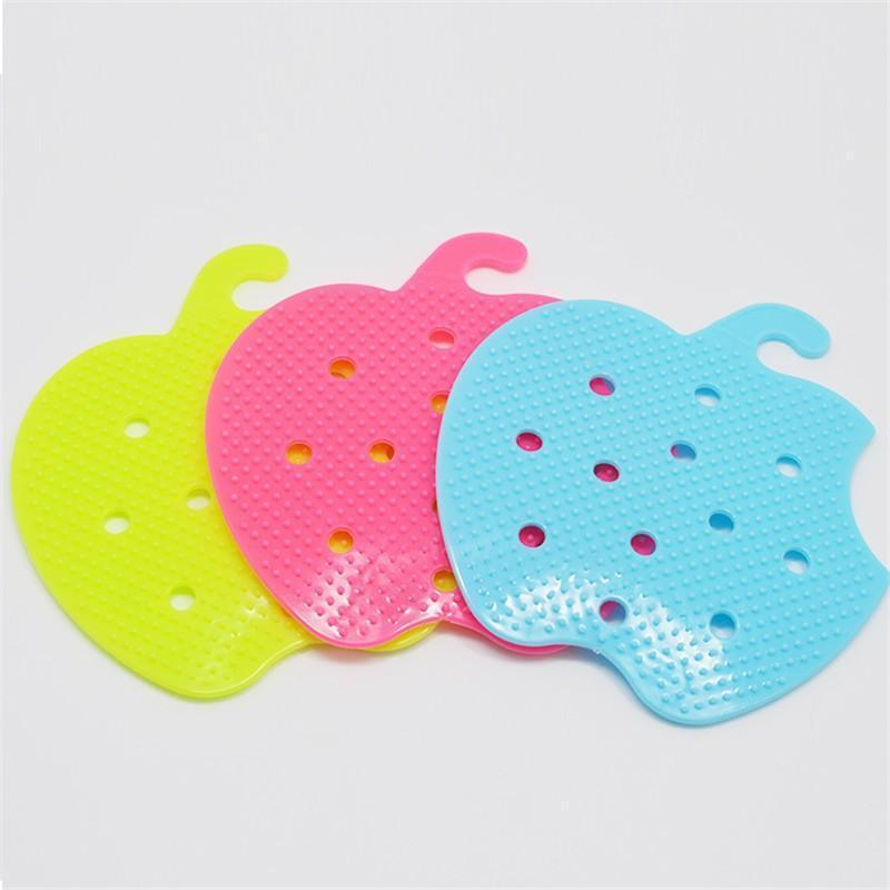 Multipurpose Apple Styled Vegetable Cleaner Cum Hot Bow Holder Brush