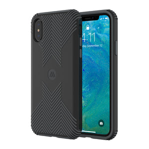 Altigo iPhone Xs Max Case - Protective, Shock Absorbent, with Textured Shell (Black/Grey)
