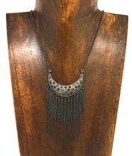 Crescent Fringe Necklace