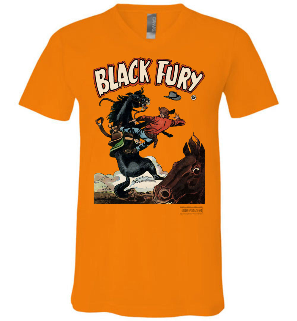 Black Fury No.4 V-Neck (Unisex, Light Colors)