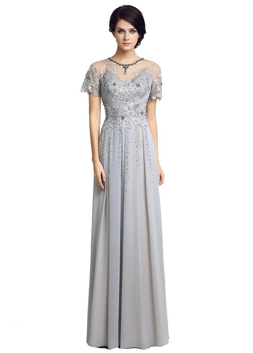 Elegant Sequined Mother Dress