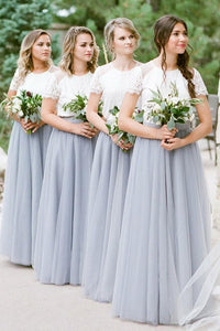 Colored Long Tulle Bridesmaid Dresses