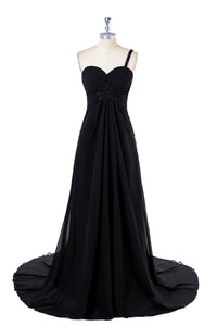 Black Sweetheart Chiffon Bridesmaid Dresses